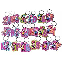 Disney Minnie Mouse Initial Rubber Laser Cut Key Chain (A)