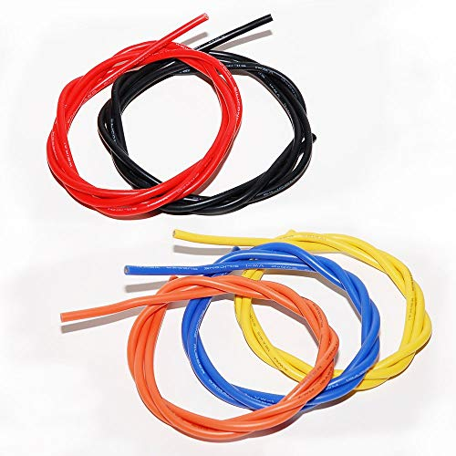 Amazon Com 5 Colors X 3 12awg Silicone Wire High Power Cable Ultra