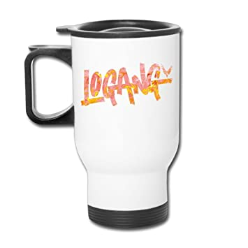Auto Logotipo de la taza, Logan Paul Logan de YouTube seguidores Parrot 4 Color blanco