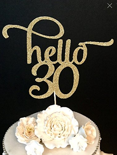 Hello 30 Number Cake Topper (30th Birthday Cake Toppers)