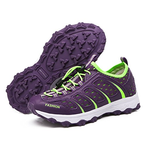 Shoes Purple Slip on Summer Sport Gomnear Women Breathable Sneakers CBwATCq4