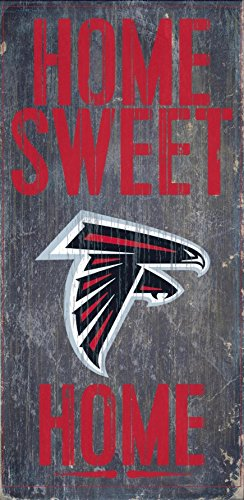 Atlanta Falcons Official NFL 14.5 inch x 9.5 inch Wood Sign Home Sweet Home by Fan Creations - Malls Outlet Of Atlanta