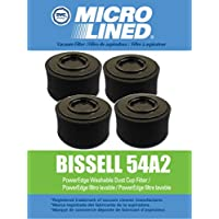 4 Bissell PowerEdge Pet Hard Floor Vacuum Premium Washable HEPA Cartridge and Outer Foam Filter Set Designed to fit Models 81L2, Replaces Bissell Part 54A2. 4 Sets of Filters