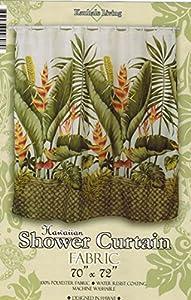 Attractive Hawaiian Tropical Fabric Shower Curtain (Hawaiian Flower)