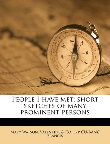 Download People I have met; short sketches of many prominent persons pdf