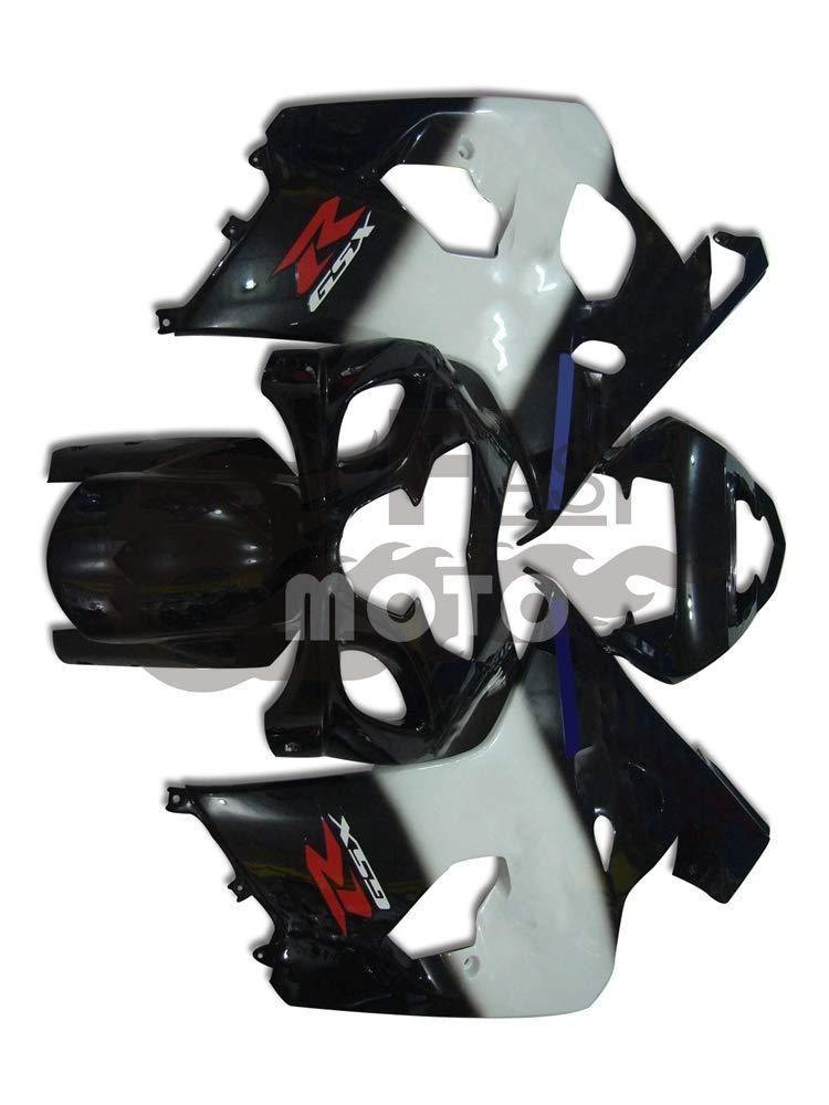 FlashMoto suzuki 鈴木 スズキ GSX-R600 GSX-R750 K4 2004 2005用フェアリング 塗装済 オートバイ用射出成型ABS樹脂ボディワークのフェアリングキットセット (ブラック,ホワイト)   B07M5TD1J3