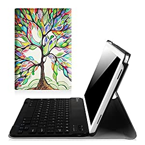 Fintie Keyboard Case for Samsung Galaxy Tab A 10.1 with S Pen, Slim Shell Light Weight Stand Cover with Detachable Wireless Bluetooth Keyboard for Galaxy Tab A 10.1 with S Pen(SM-P580/P585), Love Tree