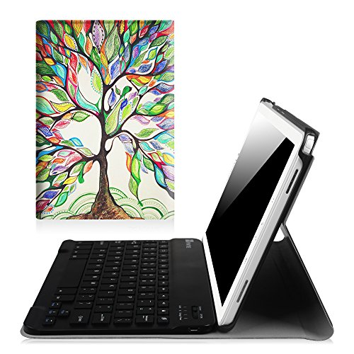 Fintie Keyboard Case for Samsung Galaxy Tab A 10.1 with S Pen 2016, Slim Light Weight Stand Cover with Detachable Wireless Bluetooth Keyboard for Galaxy Tab A 10.1 with S Pen(SM-P580/P585), Love Tree