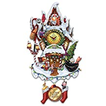 Tim Burton's The Nightmare Before Christmas Town Cuckoo Clock: Lights and Music by The Bradford Exchange