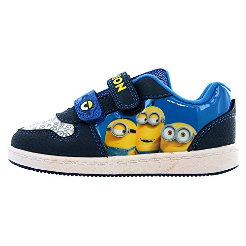 Minions Gru, Mi Villano Favorito Morton azul y amarillo gancho y lazo Zapatillas números GB infantil 7 - Adulto 1 - Azul, 9 UK Child