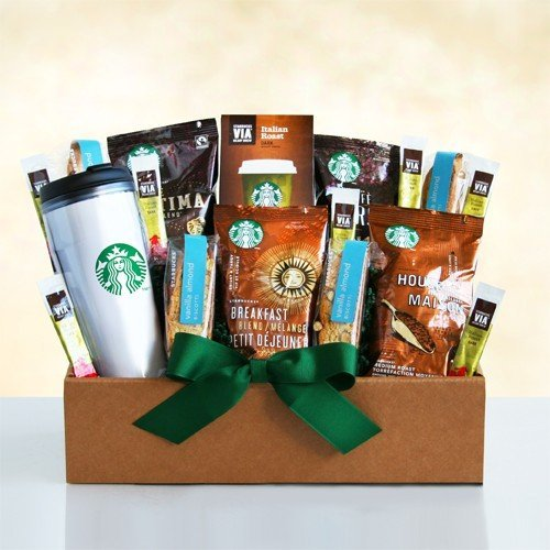 Good Morning Starbucks Traveling Gift Box - Coffee Gift for Men and Women by The Gift Basket Gallery