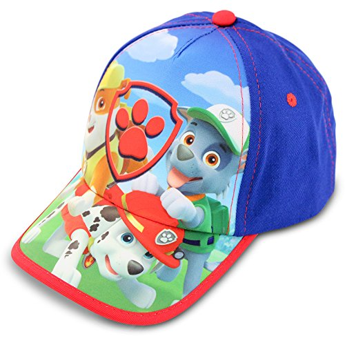 Nickelodeon Toddler Boys Paw Patrol Baseball Cap, Featuring Rubble, Marshall And Rocky, blue, red, Age 2-4 (Marshall Hats)