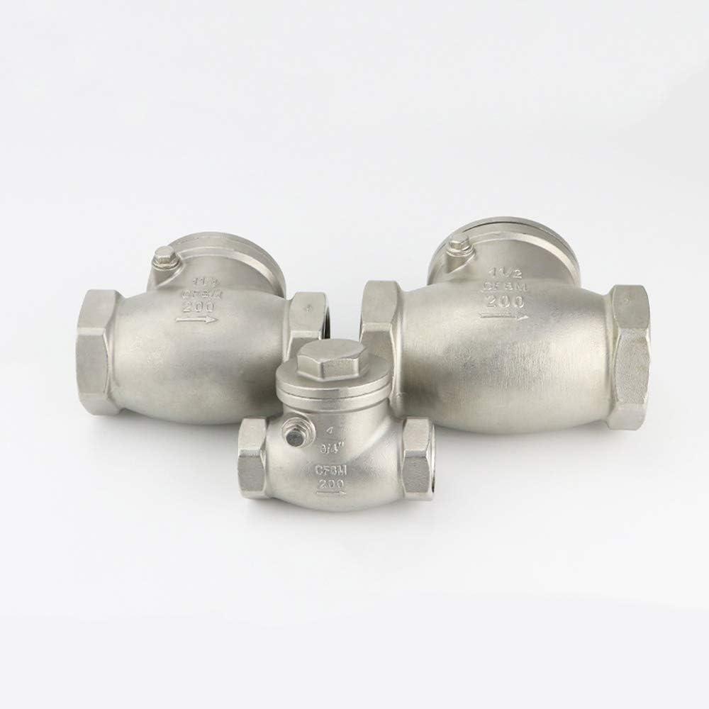 Specification : 1 SUOFEILAIMU-VALVES 1-1//4 3//4 1 1-1//2 Inch BSPT Female BSPT Female Swing Check Valve 304 Stainless Steel