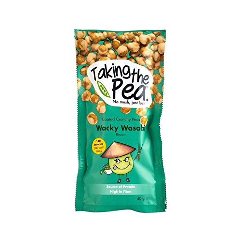 Taking The Pea, Wacky Wasabi English-Grown Crunchy Flavoured Peas 40g - Pack of 6