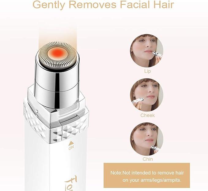 Foshine Depiladora Facial Mujer Portátil Afeitadora Mujer Soft ...