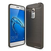 MOONCASE Huawei Nova Plus Case, Carbon Fiber Resilient [Drop Protection] [Anti-Scratch] Rugged Armor Case Cover for Huawei Nova Plus / G9 Plus / Maimang 5 Grey