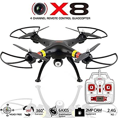 Quadcopter Drone with Camera X8C Venture - Best Drones RC Helicopter for sale - GoPro Compatible, HD 2MP Aerial Video, Headless Mode, Easy Control 6 Axis Gyroscope [USA Warranty 100% Guaranteed]