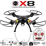 Mini Drone With Camera - Quadcopter Drone with Camera X8C Venture - Best Drones RC Helicopter for sale - GoPro Compatible, HD 2MP Aerial Video, Headless Mode, Easy Control 6 Axis Gyroscope [USA Warranty 100% Guaranteed]