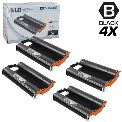 (LD Compatible Fax Cartridge with Roll Replacement for Brother PC301 (4-Pack))