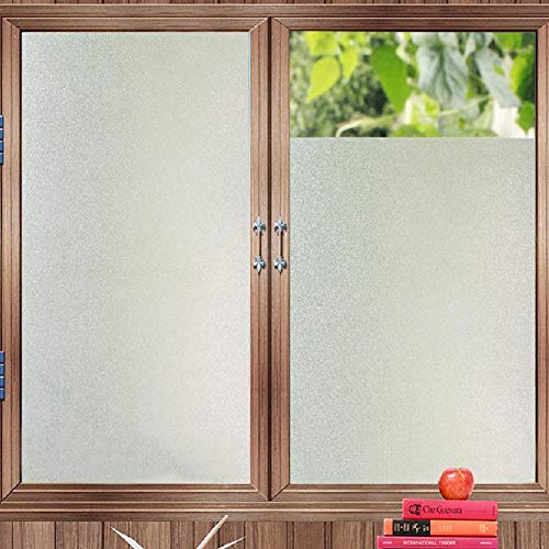 Bloss Etched Privacy Window Film Frosted Glass Static Cling Non Adhesive Window Frost Film for Home Office, 17.7inch x 78.7 inch