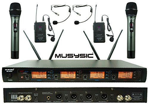 4 Channel Handheld (4-Channel UHF Diversity Wireless Handheld / Lavalier Microphone System (4x40 FQ) MU-UDX4-HL)
