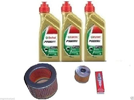 Kit de mantenimiento: aceite, bujías, filtro de aceite y de aire