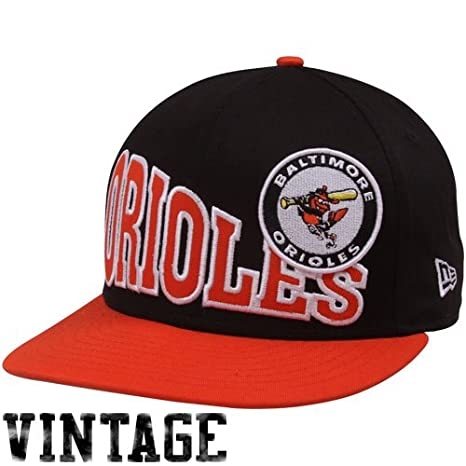 newest 99f50 67409 Image Unavailable. Image not available for. Color  MLB New Era Baltimore  Orioles Black-Orange Cooperstown Stoked Snapback Hat