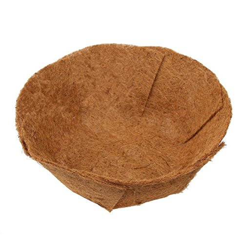 16-inch Round Coco Fiber Replacement Liner,Tiling 24-inch,Folding,Pack of 2 ()
