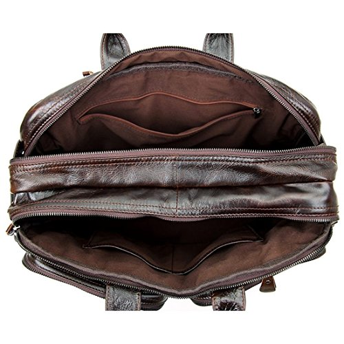Clean Vintage Hybrid Backpack Messenger Bag / Convertible Briefcase Backpack BookBag Daypack-Tanned Leather, Brown by Clean Vintage (Image #2)
