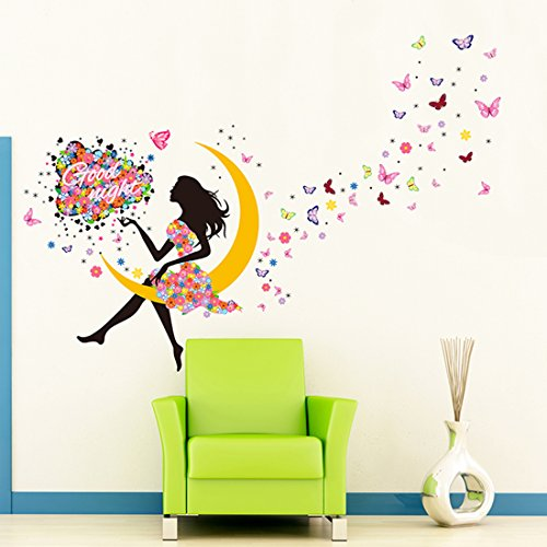 Wall Decor Wall Stickers Flower Fairy PVC Wall Stickers Wall Decals - 4