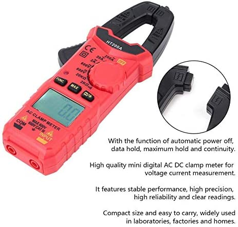 Clamp Meter,HT200A High Precision Mini AC DC Clamp Meter Voltage Current Measurement Electrical Testers Baibao