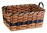 amish baskets and beyond - Amish Handmade Large Rectangular Fruit Basket (Blue w/o Liner)
