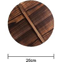 Angmile Tapa de madera Wok Tapa de madera