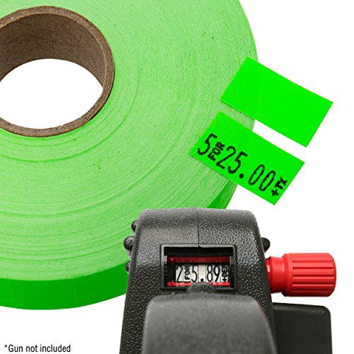 Flou. Green Pricing Labels for Monarch 1131 Price Gun - 1 Sleeve, 20,000 Price Gun Labels - with Bonus Ink Roll by Perco (Image #3)