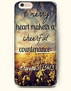 iPhone 6 Case,OOFIT iPhone 6 (4.7) Hard Case **NEW** Case with the Design of a mercy heart maketh a cheerful countenance Proverbs 15:13 - Case for Apple iPhone iPhone 6 (4.7) (2014) Verizon, AT&T Sprint, T-mobile