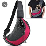 Pet Carrier Sling,Breathable Mesh Travel Single Shoulder Bag for Small Dogs Cat