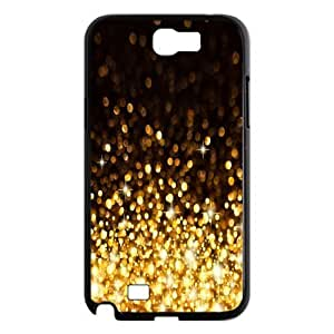 Generic Black and Gold Glitter Hard Snap-on Covers for Samsung Galaxy Note 2 N7100 wangjiang maoyi