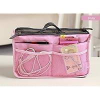 Sungpunet Womens Travel Handbag Nurse Insert Organizer Bag Purse Bag in Bag (pink)