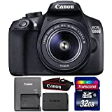 Canon EOS 1300D/T6 18MP DSLR camera with 18-55mm Lens and 32GB Memory Card
