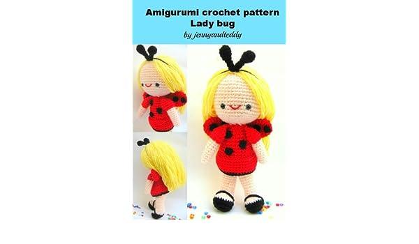 Amigurumi doll in ladybug costume - Amigurumi Today | 350x600