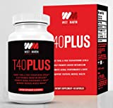 T40PLUS - Testosterone Booster Dietary Supplement All Natural Formula - Boosts Total & Free Testosterone Levels - Promotes Muscle Growth - Enhances Sex Drive - Increases Stamina & Energy
