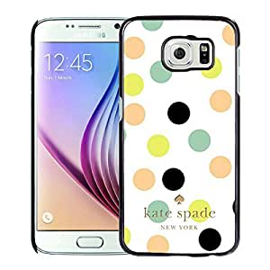 Unique And Nice Designed Kate Spade Cover Case For Samsung Galaxy S6 Black Phone Case 176