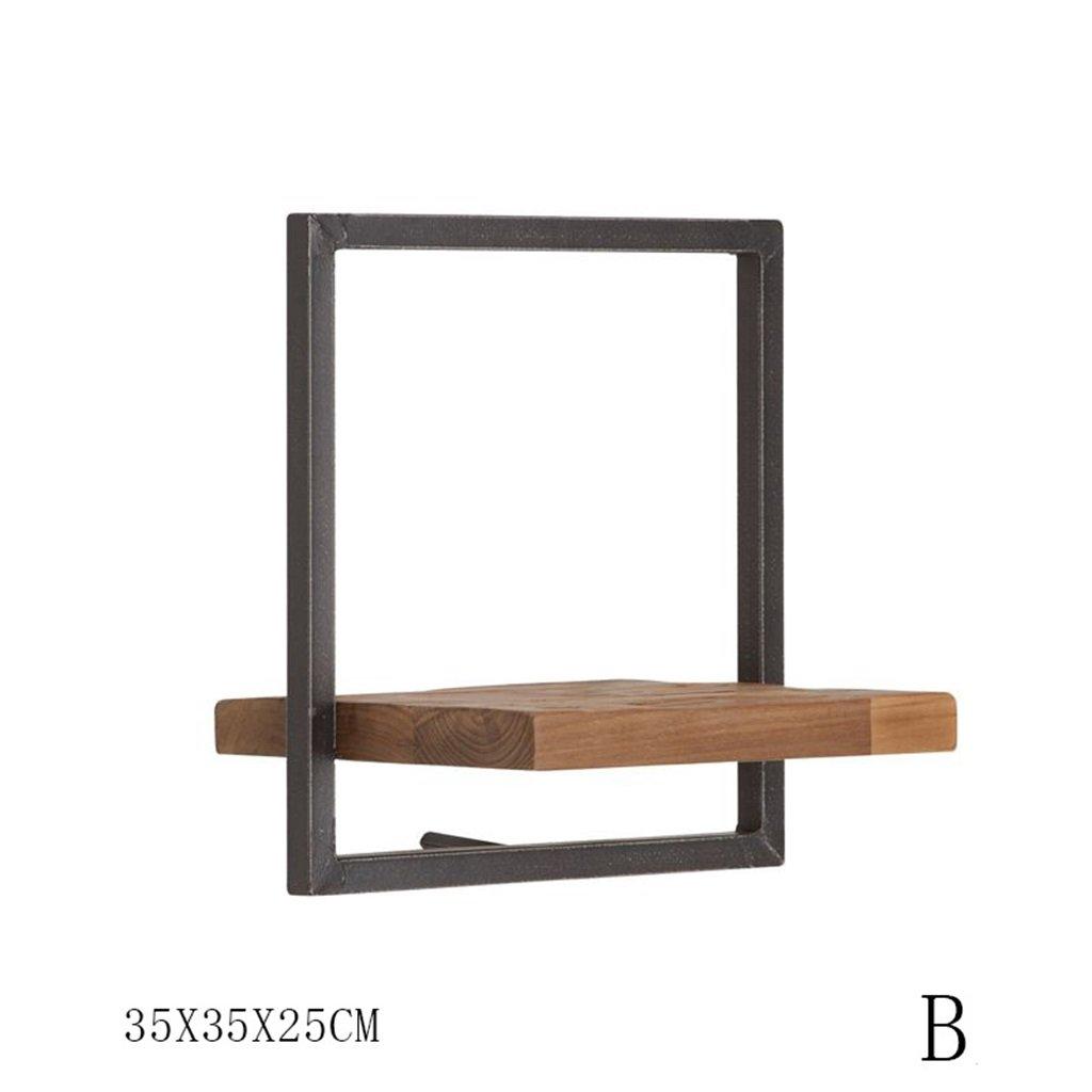 Holz Und Eisen Wandregal Diy Modernes Schweberegale Wandmontierte