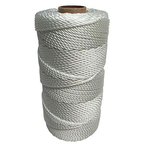 Nylon Braided Twine (SGT KNOTS Twisted Nylon Seine Twine #36 100% Nylon Fiber- High Tensile Strength & Versatile Utility Twine - Crafting, Camping, Boating, Mason Line, Fishing, Hunting, Survival, Marine (541 ft))