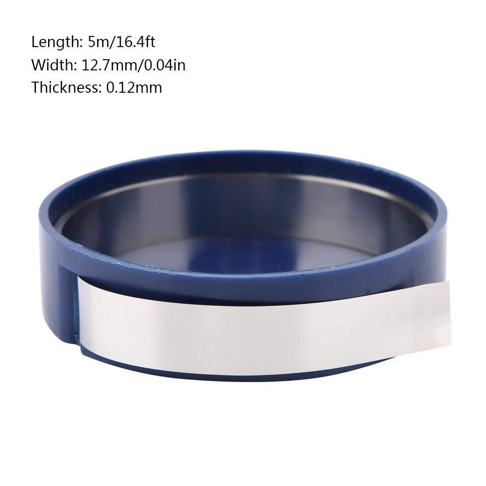 0.4mm Thickness 5 m /× 12,7 mm Dichtung Pr/äzisionsdichtung f/ür die Maschinenwartung Pr/äzisionsscheibe Distanzscheibe aus Edelstahl