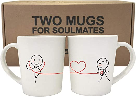 Amazon Com Boldloft My Heart Beats For You Couple Coffee Mugs