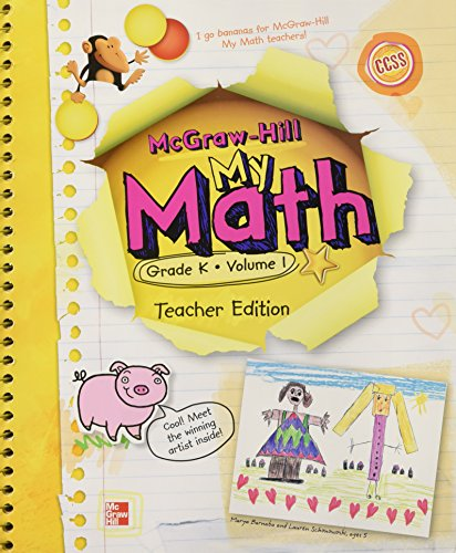 My Math, Grade K Vol. 1, Teacher's Edition, CCSS Common Core State Standards