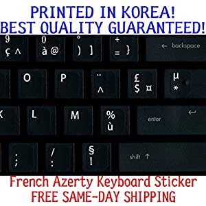 French Replacement KEYBOARD STICKER WITH Big Letters Non-Transparent Opaque