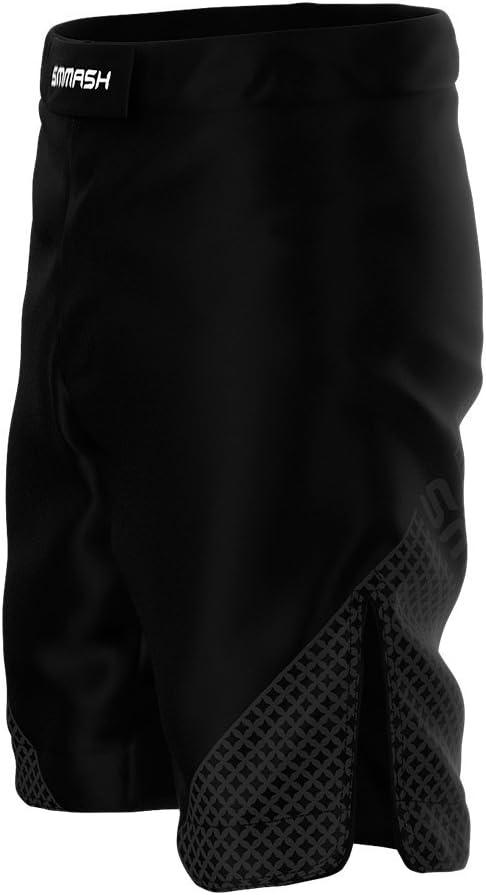 UFC y Gimnasio Pantalones Cortos de Deporte Negros para Hombre SMMASH G-Ray para el Entrenamiento de MMA BJJ