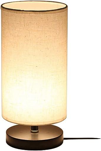 E27 Lámparas de mesa Cortina de lámpara de tela base metal, Negro ...